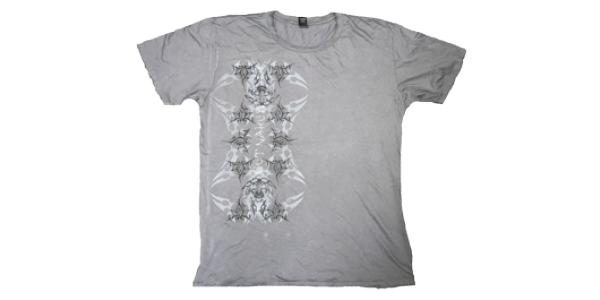 Naked Papers Limited Edition TShirt in Distressed Soft Cotton Gray